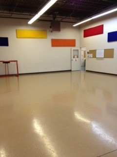 This gym needs a sponsor! Great spacce for functions, dance, lessons!